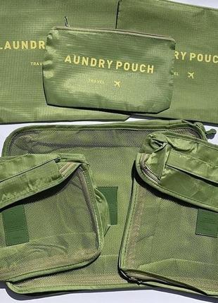 Набор дорожных сумок органайзеров  для чемодана , органайзер