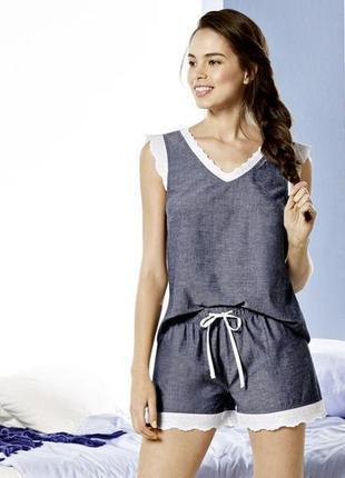 Нежная пижама с кружевом домашний костюм esmara германия