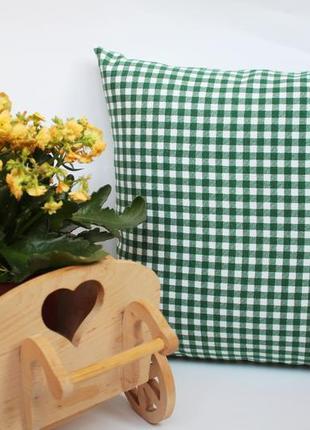 Декоративна подушка в клітинку, декоративная  подушка в клетку киев, картата подушка