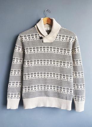 Мужская кофта свитер с воротом h&m