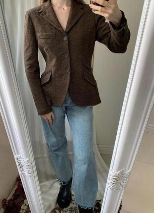 Стильный шерстяной пиджак в мужском стиле ralph lauren оригинал