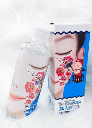 Тонер с ана-кислотами elizavecca milky piggy hell pore clean up aha fruit toner