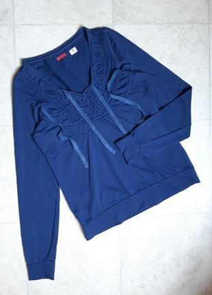 1+1=3 базовый фирменный синий свитер толстовка, размер 44 - 46