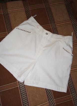Белоснежные шорты  высокая посадка