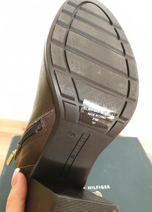 Ботинки tommy hilfiger ботильоны туфли кожа демисезон