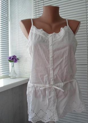 Майка - блуза из натуральной ткани