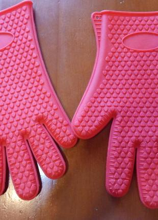 Перчатка прихватка силиконовая термостойкая
