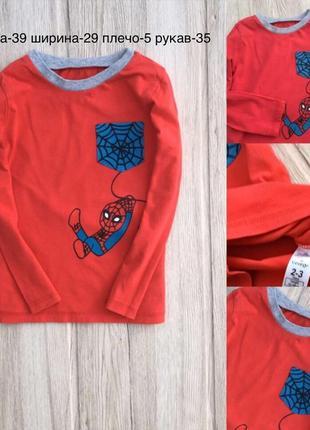 Детский красный реглан человек паук george