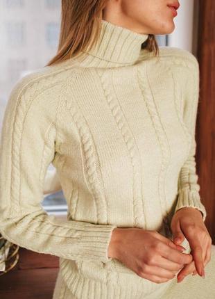 Вязаный костюм свитер + брюки
