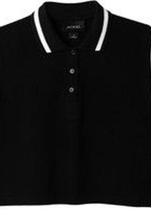 Модная укороченная футболка поло