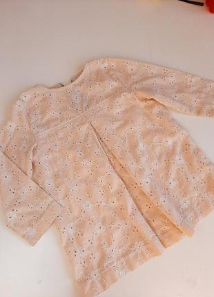 Блуза кофточка туника на 2-3года