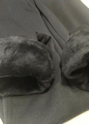 Теплые лосины на меху леггинсы на плотном флисе