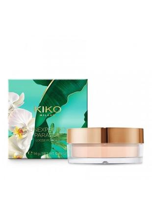 Пудра kiko milano unexpected paradise loose powder