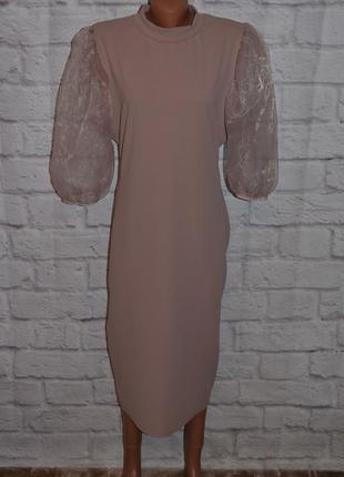 """Платье трикотажное с объемными рукавами """"boohoo"""""""
