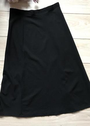 Базовая чёрная миди юбка cos