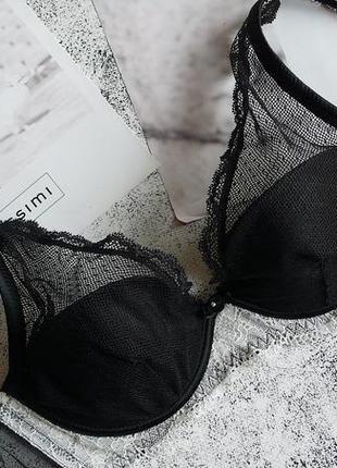 Черный бюстгальтер бралет на косточках модель elena от intimissimi 80b