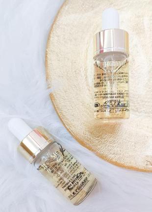 Сыворотка с микрочастицами золота bergamo luxury gold collagen 13ml