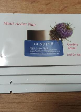 Clarins ночной крем multi-active nuit пробник