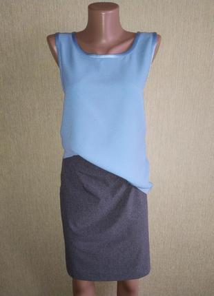Cos фирменная прямая юбка на резинке,р.38