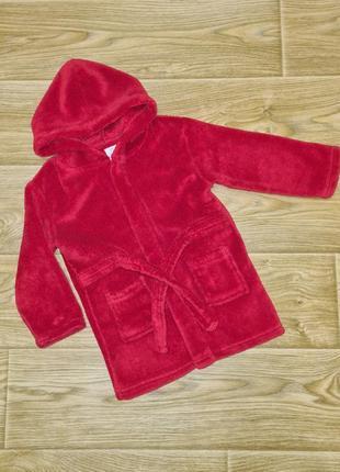 Махровый халат для малышки 18-24 месяцев