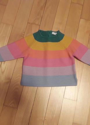 Хлопковый свитер на девочку