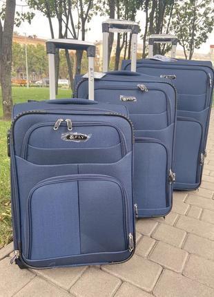Чемодан,валіза ,текстильный чемодан на 2 колеса ,самый надёжный и прочный