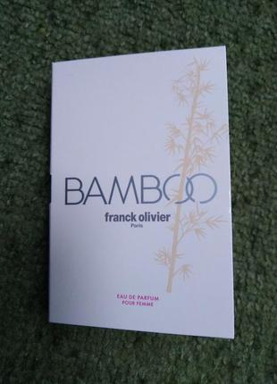 Оригинал franck olivier bamboo for women, пробник