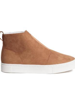 Новые утепленные ботинки кеды h&m