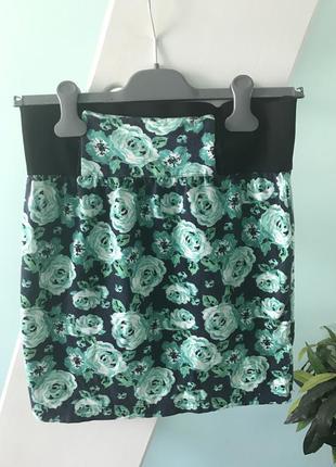 Цветная летняя мини юбка