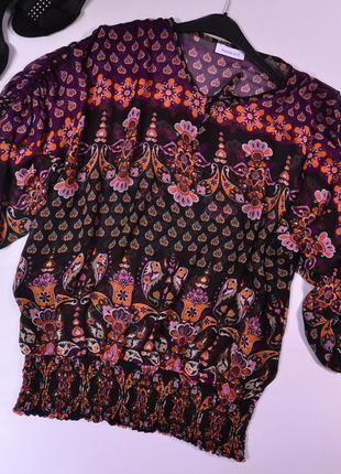 Шифоновая блуза с узором c&a