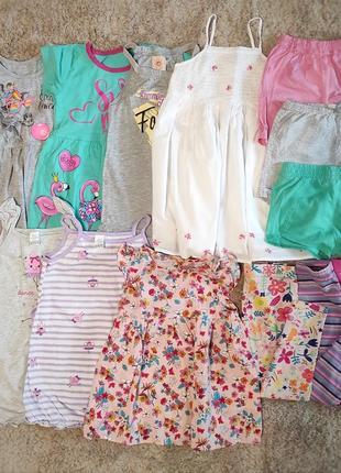 Пакет летних вещей на девочку 2-3 года