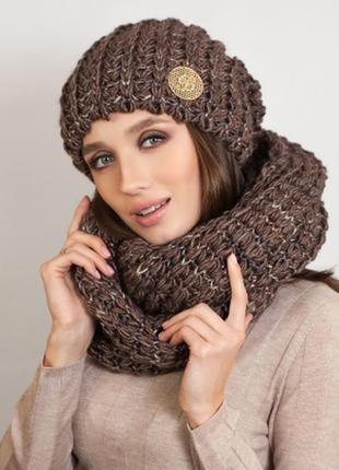 Очень красивый комплект, шарф+ шарф-восьмерка