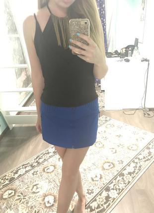 Фактурная мини юбка