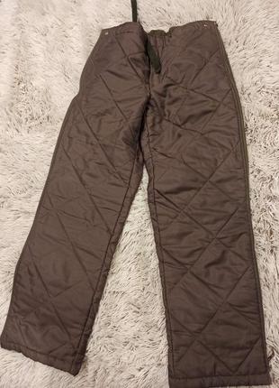 Зимние стёганые брюки1 фото