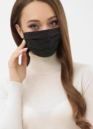 Стильная маска с горошек