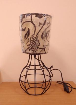 Настольная лампа с абажуром ночник в стиле лофт