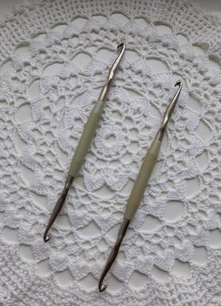 Крючок для вязания, ссср,двойной крючок для вязания,для в'язання, винтаж
