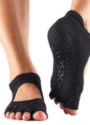 Носки для йоги, пилатеса, барре toesox