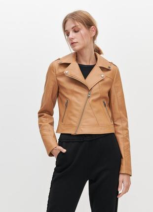 Байкерская куртка косуха reserved из кожзама
