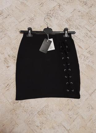Класная юбка с шнуровкой/ юбка з шнуровною  от colins
