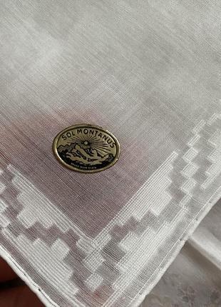 Известный sol montanus ! белоснежный батистовый платок винтаж ручная работа
