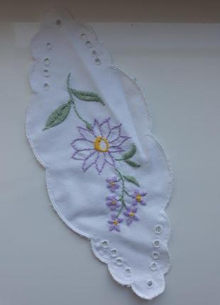 Ткань с вышивкой ришелье, с аппликацией, ткань, рішельє, винтаж