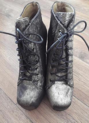 Кожаные ботинки ботильоны полусапожки jeffrey campbell