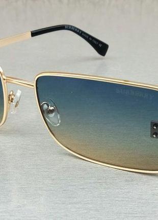 Burberry очки женские солнцезащитные в золоте сине бежевый градиент