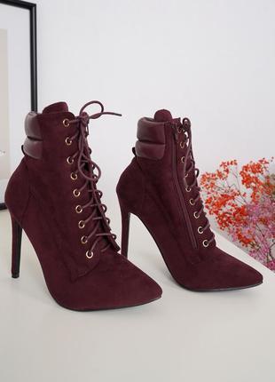 Ботильоны, сапоги, ботинки на шнуровке