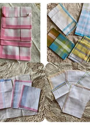 Винтаж батистовый набор носовой платок