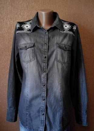 Рубашка джинсовая размер 10-12 yessiсa