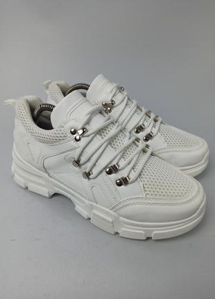 Белые женские кроссовки размер 41 (26 см.)