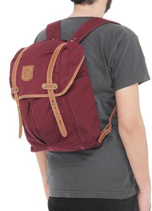 Рюкзак наплічник лиса fjallraven rucksack no. 21 medium (dark garnet) g-1000 - 20 l