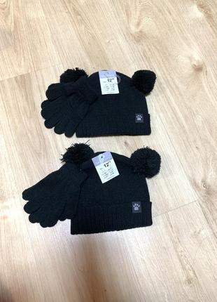 Комплект шапка і рукавиці шапка и перчатки